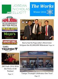 The Works! JNE Company Newsletter Winter 2016