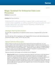 Magic Quadrant for Enterprise Data Loss Prevention