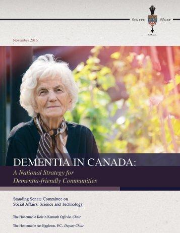 DEMENTIA IN CANADA