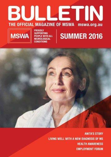 MSWA Bulletin Summer 16