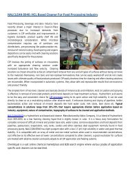 NALCLEAN 8940: HCL Based Cleaner For Food Processing Industry - ChemEqual