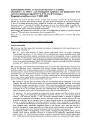 Author reply to reviews on manuscript by Kusch et al. (2010 - BGD