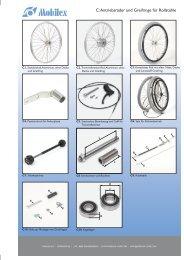 llstühle C: Antriebsräder und Greifringe für Rollstühle