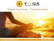 Beginner Yoga Classes – Yoga School of India