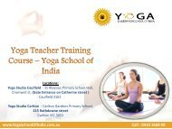 Yoga Teacher Training Course – Yoga School of India