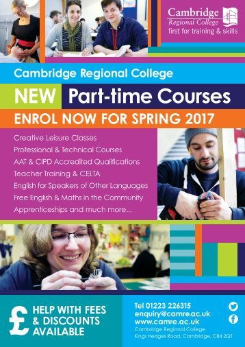 NEW Part-time Courses