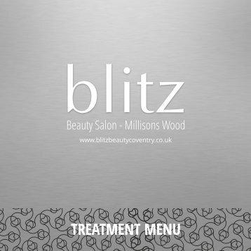 blitz Beauty Salon - Millisons Wood - Treatment Menu