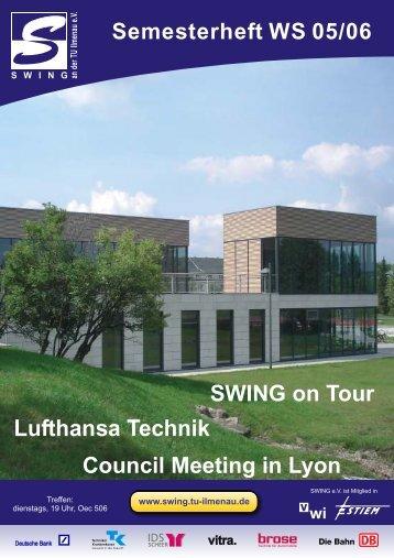 Council Meeting in Lyon SWING on Tour Lufthansa Technik