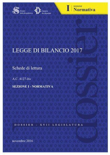 LEGGE DI BILANCIO 2017