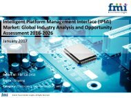 Intelligent Platform Management Interface (IPMI) Market Volume Analysis, Segments, Value Share and Key Trends 2016-2026