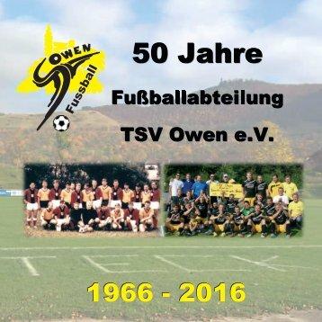 Festschrift 50 Jahre Fußball TSV Owen