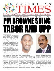 Caribbean Times 67th Issue - Tuesday 3rd December 2016