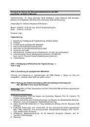Protokoll der Sitzung der Managementkommission des DBV