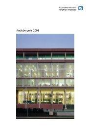 Ausloberpreis 2008 - Bau