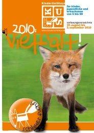 Vorlesungsverzeichnis KUS 2010 - KinderuniSteyr