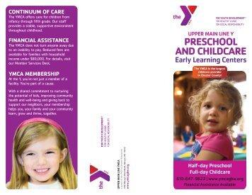 Upper Main Line Childcare Brochure