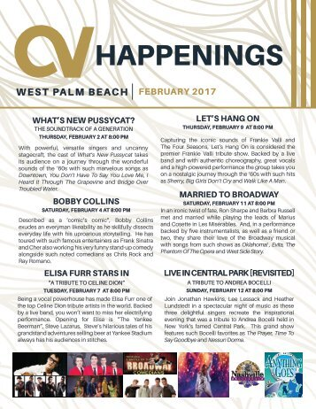 West Palm Beach February 2017 Happenings