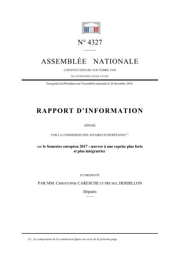 AS RA SSEM PPO N MBLÉ RT D N° 43 ÉE N D'INF 27 NATI FOR IONA MAT ALE TION N
