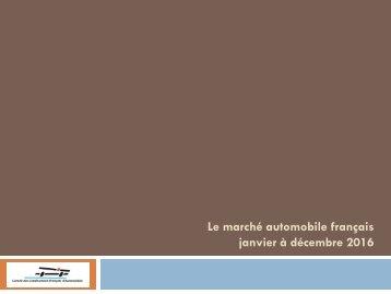 Le marché automobile français janvier à décembre 2016