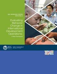 Evaluating Behavior Change in International Development Operations