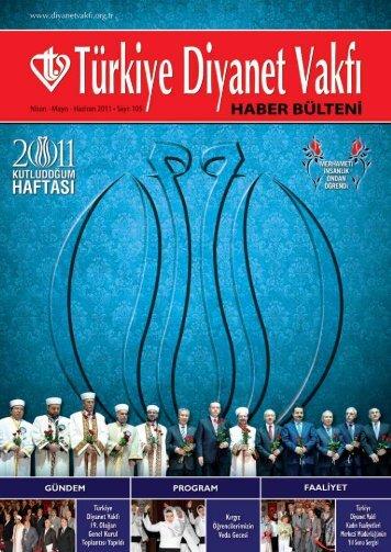 Haber Bülteni 105. Sayı - Türkiye Diyanet Vakfı