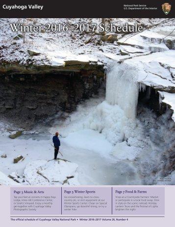 Winter 2016–2017 Schedule