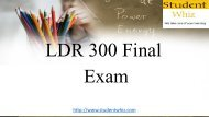 Studentwhiz | LDR 300 Final Exam | UOP Questions and Answers Free