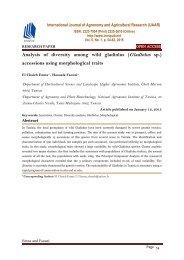 Analysis of diversity among wild gladiolus (Gladiolus sp.) accessions using morphological traits