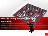 How the Elderly Should Spend Their Retirement