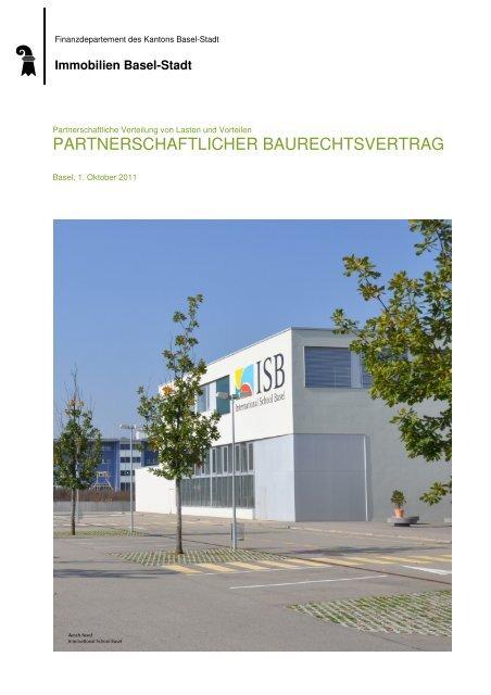 Partnerschaftlicher Baurechtsvertrag - Immobilien Basel-Stadt