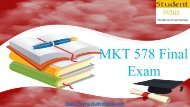 Studentwhiz | MKT 578 Final Exam - 30 Out of 30 Questions and Answers Free