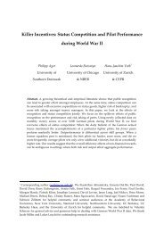 Killer Incentives Status Competition and Pilot Performance during World War II