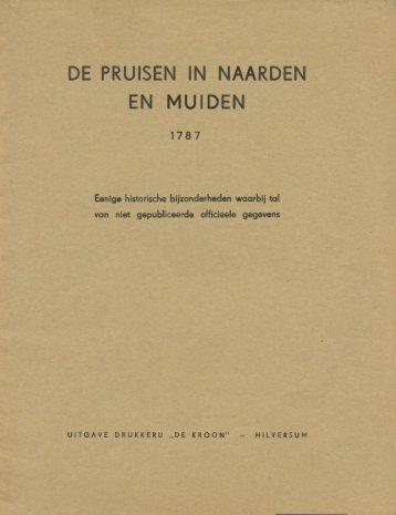 De Pruisen in Naarden en Muiden 1787