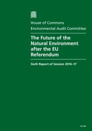 The Future of the Natural Environment after the EU Referendum