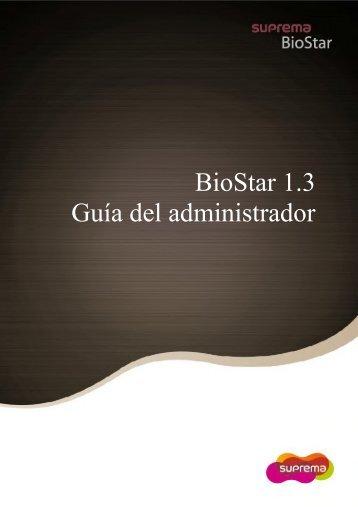 BioStar 1.3 Guía del administrador