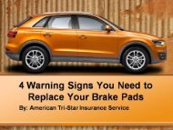 4 Warning Signs You Need to Replace Your Brake Pads