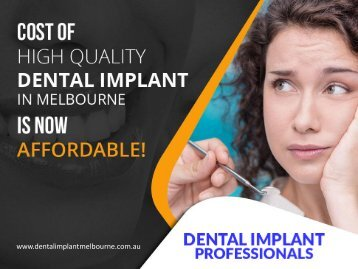 Affordable and High Quality Dental Implants in Melbourne