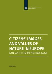 CITIZENS' IMAGES AND VALUES OF NATURE IN EUROPE