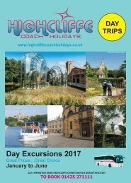 Highcliffe Coach Holidays 2017 -  Day Trips 1st edition