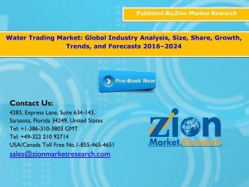 Water Trading Market, 2016 – 2024