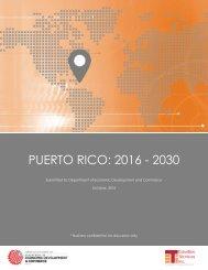 PUERTO RICO 2016 - 2030