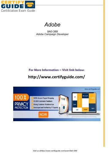 9A0-389 Certification Tests