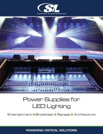 Power Supplies for LED Lighting