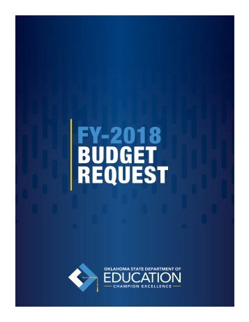 FY-2018 BUDGET REQUEST