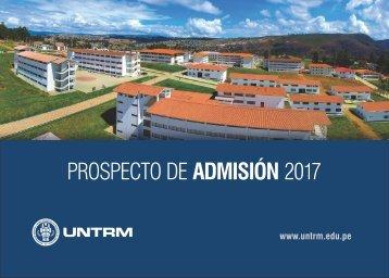 PROSPECTO DE ADMISIÓN UNTRM 2017