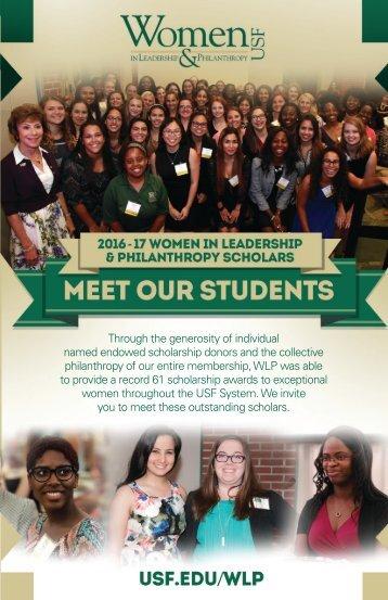 2016-17 WLP Bio Booklet - Meet our 61 Scholars!