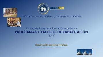 PROGRAMAS Y TALLERES DE CAPACITACIÓN