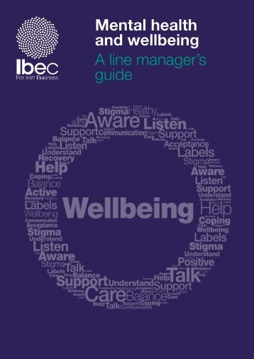 Mental health and wellbeing A line manager's guide