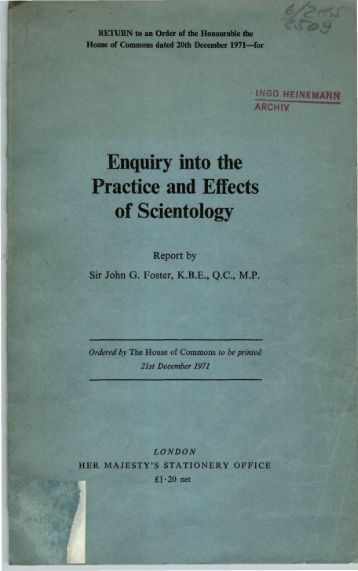 Enquiry into the Practice and Effects of Scientology - Ingo Heinemann.1