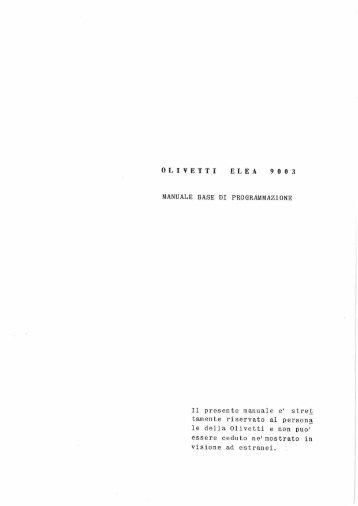 ELEA 9003 - Manuale base di Programmazione